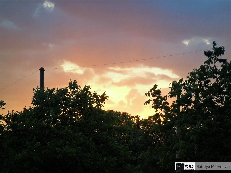 Фото на закате