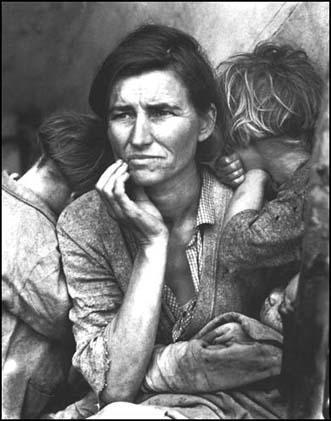 """Доротея Ланге, Фотография """"Мать"""", Нипомо, Калифорния"""