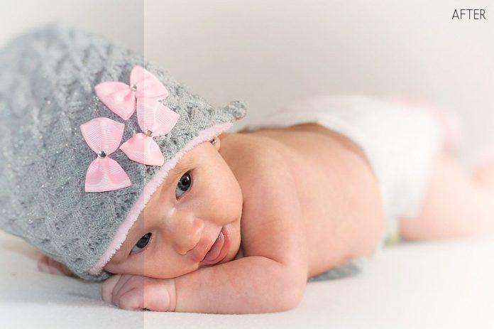 Lightroom редактирование фото новорожденных