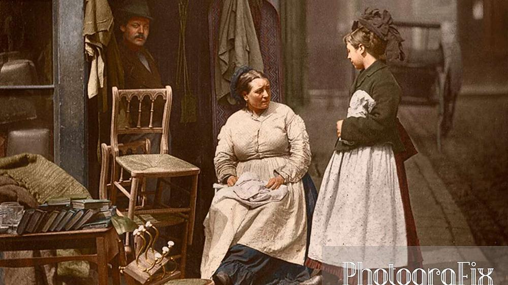 Цветные фото Лондона викторианской эпохи