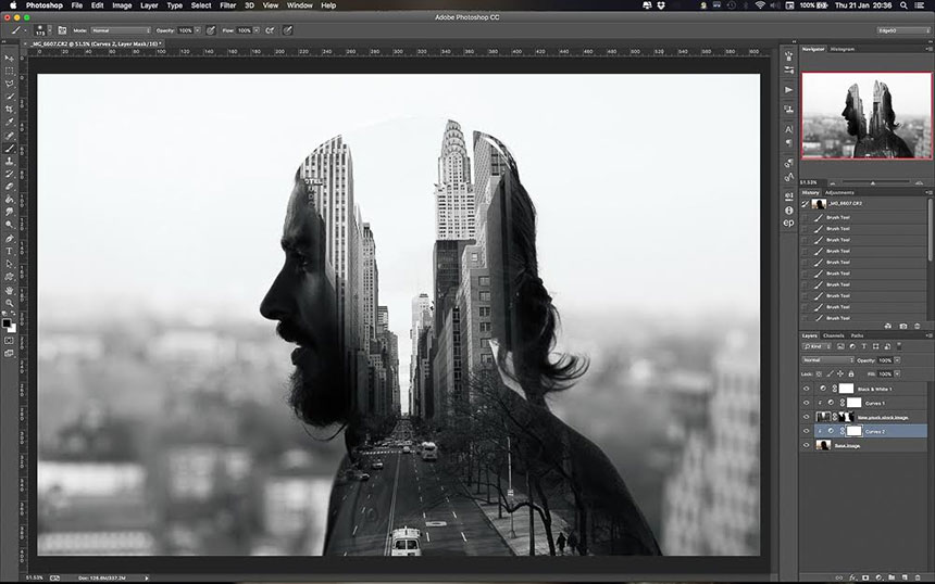 Мультиэкспозиция в Photoshop