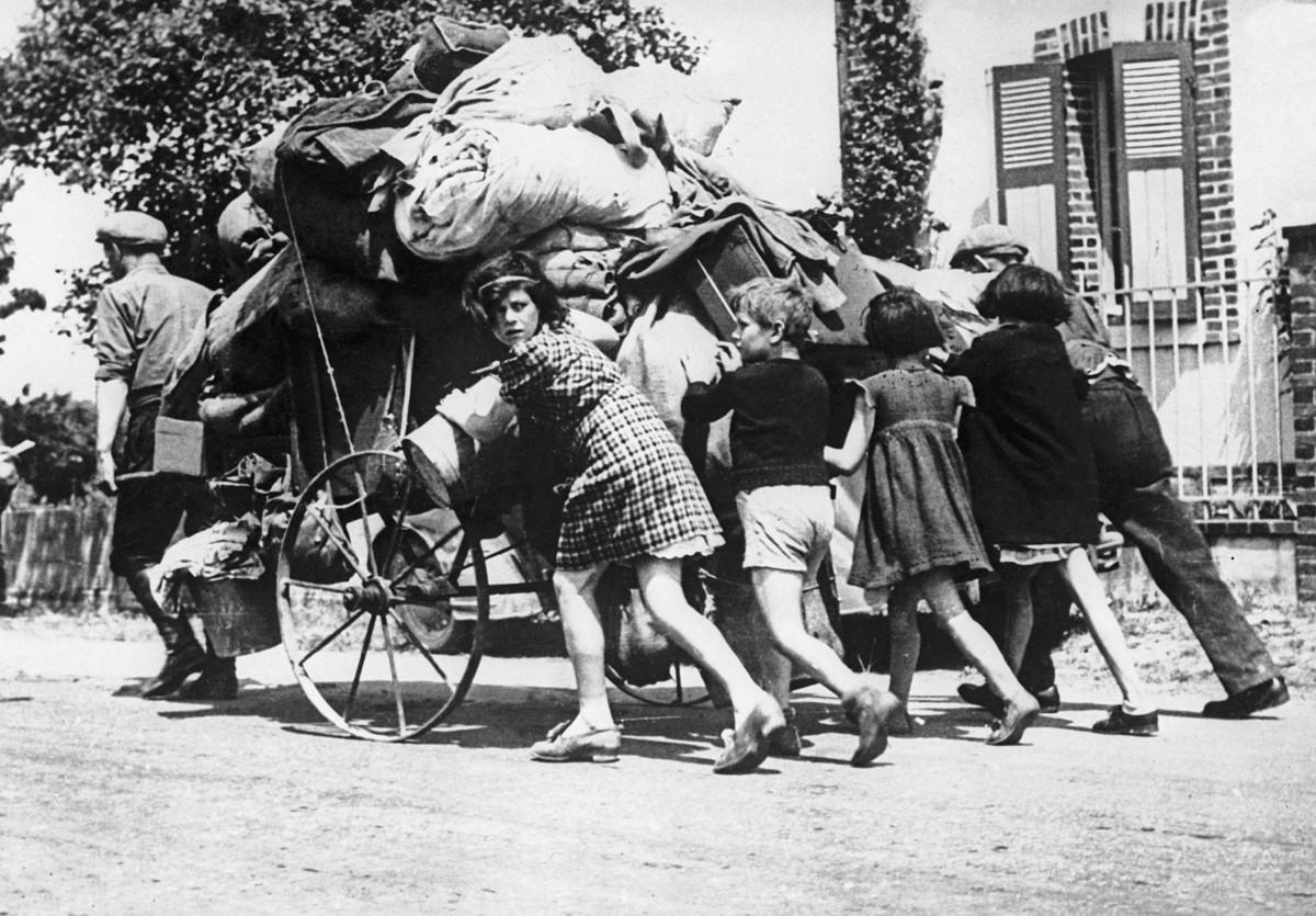 Исход 1940 года, Франция во время Второй мировой войны.