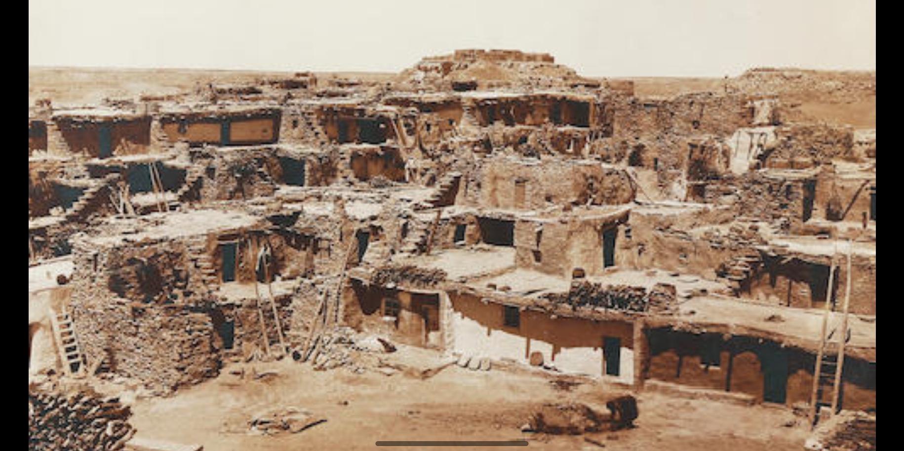 Мишоннови, Вторая резервация меса-хопи, ок. 1906 г. © Эдвард Кертис